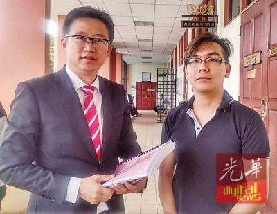 事主黄家才(右)希望赖志明律师为他讨回公道。