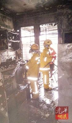 消拯局进入厨房进行救火时,厨房用具多数已烧毁。