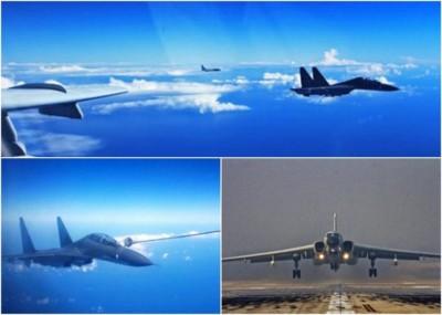 中国空军出动多架战机飞越宫古海峡,检验远海实战能力。