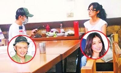 范逸臣(左)和田中千绘一起吃平价牛排,穿著互动像熟识已久的情侣。