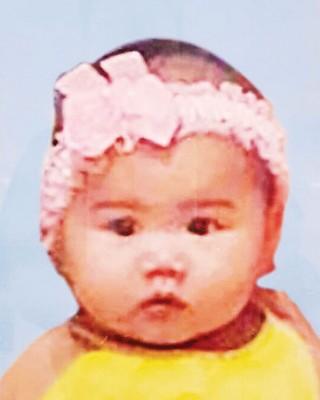 长女谢凯诗婴儿时的照片。