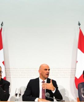 瑞士当局公布公投结果。