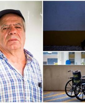 博雷戈(左图)当年只能依靠轮椅代步。