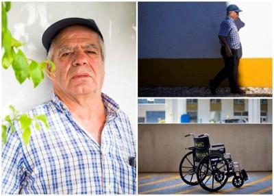 博雷戈(左图)当时只能靠轮椅代步。