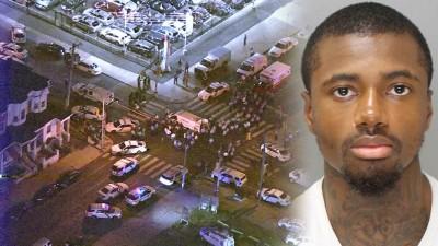 枪击案现场一片散乱。贪图为枪手格伦老来犯罪纪录。
