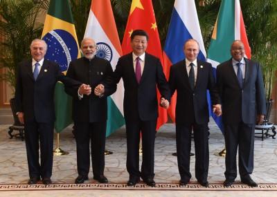金砖国家五国元首举行非正式会晤。(法新社照片)