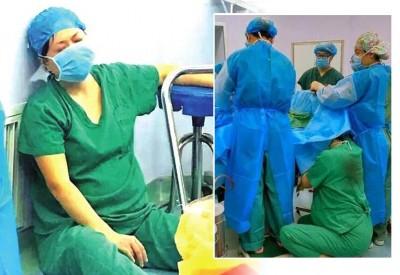 古琳蹲着托举胎头30多分钟,为手术赢得了时间,保证了胎儿生命安全。