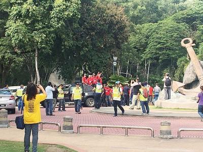 净选盟5.0全国巡回造势活动霹州站周六展开,并指在开始15分钟后,遭到骑摩托或驾驶四驱车的红衣人干扰。