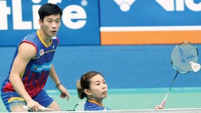 陈炳顺/吴柳萤在韩国超级赛奋力演出,而可惜被主队首号种子高成炫/金荷娜逆转,啊是连两到受同一些手淘汰。