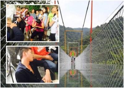 融水双龙沟景区玻璃索桥首日开放,即发生马蜂螫伤旅客事件。