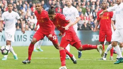 菲尔米诺进球或助攻的英超比赛,利物浦不败。