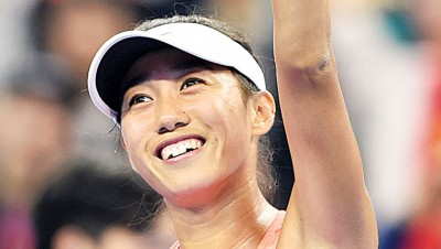 中国金花张帅昂首挺进8强,创造在中网赛场上的个人最好战绩。
