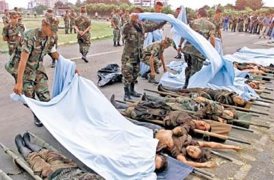 政府军近年大围剿,FARC死伤无数。