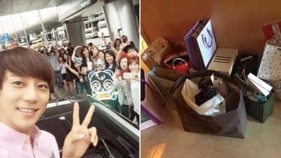 黄致列为中国迷妹、师奶欢迎。网友爆料称黄致列拿粉丝小礼品丟在酒店。
