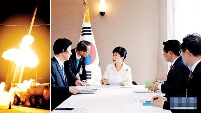 """(左图)韩国将以欢庆尚北道星州郡的星州高尔夫球场,布局""""萨德""""反导系统。(右图)""""萨德""""已确定部署地点,韩国总统智囊建议部署核武。"""
