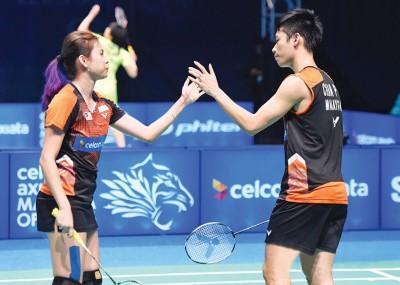 陈炳顺/吴柳萤早早地告别丹麦首要超级羽球赛。