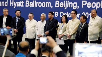 守泰特(受到)当首都会见在华工作、生存之菲律宾人口表示。