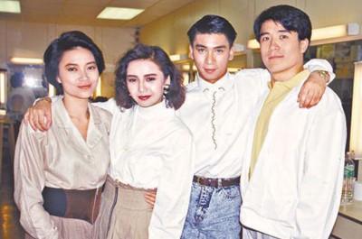 (右起)李中宁、黄子扬、曾华倩和陈敏儿曾是无线力捧对象。