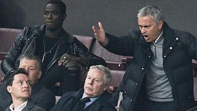 穆里尼奥当看台怒吼。