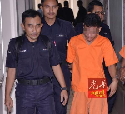 疑犯周三为带到庭,因为警方延长羁押查案。