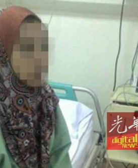 网络流传该名妇女自称被丈夫殴打后接受治疗的照片。