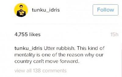 按照德利斯当社交网站Instagram贴文,勿点名怒斥建议者是垃圾。