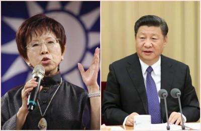 国民党主席洪秀柱(左)与中共中央总书记习近平(右),11月将在北京会面。