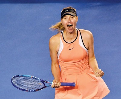 莎拉波娃禁赛期缩短,明年4月底即可复出。