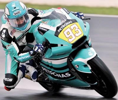 兰丹罗斯里努力出击,但在Moto2组第三次练习只获第24位。