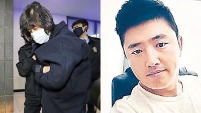 """崔顺实周一晚遭紧急拘留。右为崔顺实的""""小白脸""""高永泰。"""