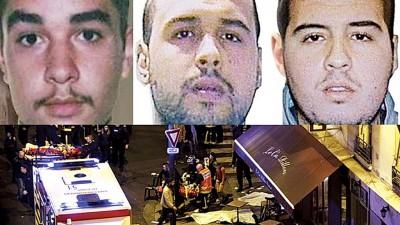 阿塔尔(左上)于指是巴黎恐袭(下图)策划人。巴克劳伊哥俩(遇达到与右上)以恐袭中长眠。
