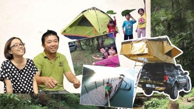 在山林中扎营,感受大地的温度。有家人在身边,那里就是你的家。