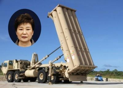 美国将在韩国部署萨德。小图为朴槿惠。