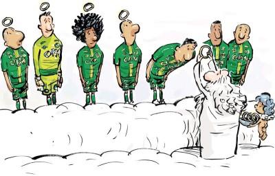 沙佩科恩斯在南美杯决赛的对手国民竞技队已经呼吁将冠军直接给予对方,以慰亡者在天之灵。