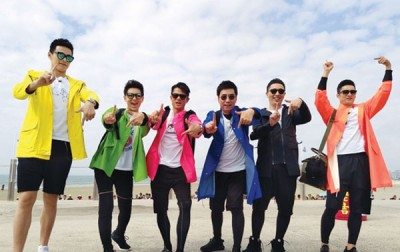同次男神孙杨(左起)林志颖、郭富城、范明、华少同韩东君同参与真人秀。
