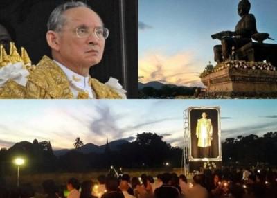 云霞看似泰文9字,民众不期然想起泰王普密蓬九世。(互联网图片)