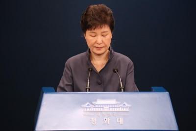 朴槿惠之民调一丢再少,支持率只有4%。