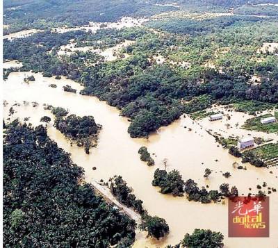 登嘉楼州5个县豪雨成灾。(档案照)