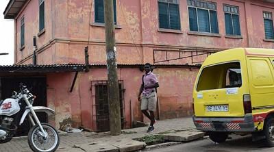 图为伪冒美国驻加纳大使馆的外貌。