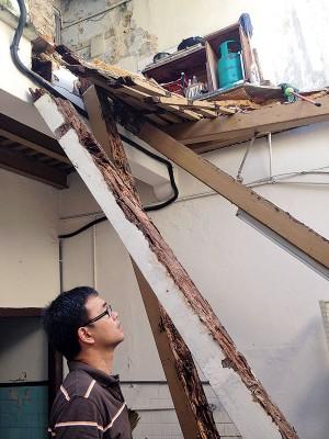 赖主恩:屋子后方坍塌,并不会影响前方潮艺馆的活动继续运作。