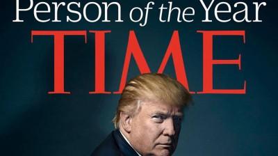 网民指《时代》封面上的特朗普,有如长了一对魔鬼的角。