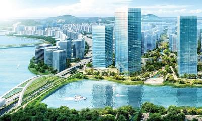 根据设计图的构造,岛上也将兴建国际会展中心、政府行政中心、博物馆及体育场等。人造岛的15%或700英亩土地被归划为绿肺。