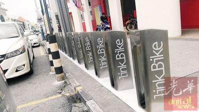 """槟城首个公共脚车""""Link Bike""""将于本月17日启用。"""