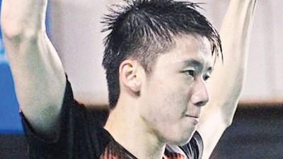林志咏庆祝夺得全国冠军,也让他更有信心冲击明年的世界排名。