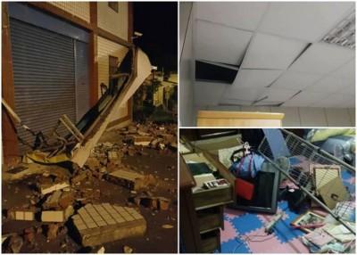台东连震5浅,东河更传出有民房损毁。