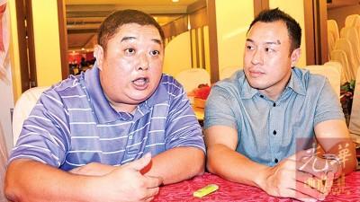 陈俊男(左)及王冠棠,希望国行实施新举措前要有妥善策划。