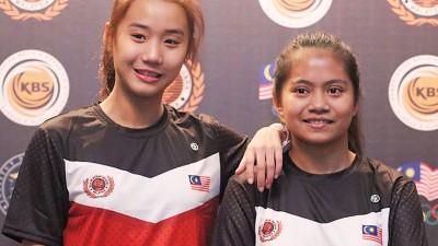 骆佳宜和特雷茜放眼在明年东运会创佳绩。