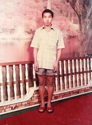 张之发15岁时的照片。