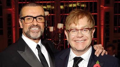 艾顿庄(右)在IG上悼念好友佐治。