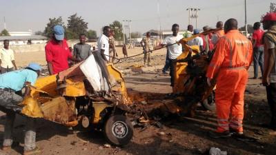 尼日利亚一样农贸市场发生了区区由自杀式爆炸袭击。(美联社照片)